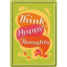 Escudo de chapa 10244-Word Up-Think Happy Thoughts - 10 x 14 cm-nuevo