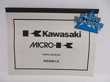 NOS Kawasaki Micro-K Parts Catalog  KX250 KX 250 2000 00 99960-0090-01