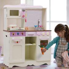 Cuisine pour Enfant Cuisine jouet en Bois avec Porte Blanc laiteux Cuisine Jeux