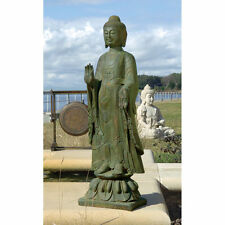 Spiritual 3.5 Ft Buddha Statue Calm Serenity Asian Garden Sculpture New