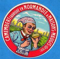 Tres belle étiquette de Camembert ancienne - Maisons-Maugis( ORNE)-Normandie