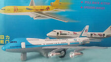 avion BOEING 747 USAF United States Of America blanc/bleu avion miniature portes