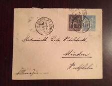 1887 Upgraded Postal Stationary Paris- Westphalia Germany Marked Cat #2