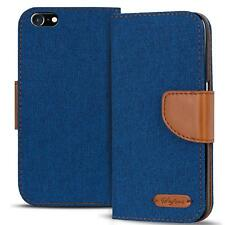 Apple iPhone 4 4s Phone PU Leather Magnetic Flip Case Wallet Denim Cover Holder