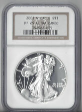 2001 W Eagle PF 69 Ultra Cameo slabbed by NGC