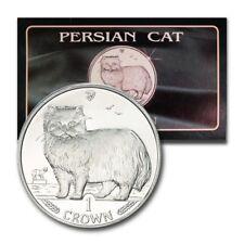 Isle of Man Persian Cat Crown 1989 Descriptive Folder Bu