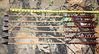 """6 Port Orford Cedar Hunting Arrows 11/32"""" 45/50# 28"""" Hi-Precision Broadheads"""