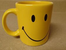 Waechtersbach Yellow Smiley Happy Faces Ceramic Coffee / Tea Mug Germany EUC