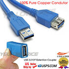 10FT Super Speed 5Gbps USB 3.0 AM to AF Extension Cable+USB 3.0 Coupler Adapter