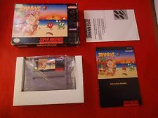 Spanky's Quest Super Nintendo SNES 1992 COMPLETE Box manual game WORKS! Spankys