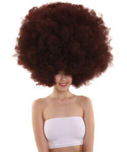 Brown Super Size Jumbo Afro Oversized Wig Halloween Cosplay Party Hair HW-3841