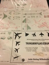 Tragerflugzeuge Paper Model / Germany Factory Sealed NOS / 1:250