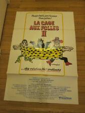 LA CAGE AUX FOLLES 2 orig 1981 poster Michel Serrault Ugo Tognazzi gay comedy