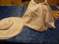 lot=bella,raynal ,famosa ,pour grande poupée   années 60,jupe et chapeau nylon