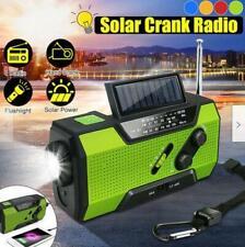Emergency Solar Hand Crank Weather Radio AM/FM/NOAA LED  Power Bank USB 2000mAh