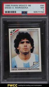 1986 Panini Mexico '86 Diego Maradona #84 PSA 7 NRMT