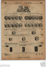 1913 PAPER AD Poker Dice Celluloid Transparent Opaque Zylonite