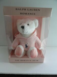 PINK RALPH LAUREN POLO TEDDY BEAR IN BOX HODDIE ROMANCE LINE NEW 2020
