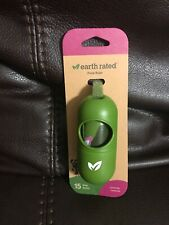 Earth Rated Dog Poop Bags Dispenser Dog Poop Bag Holder Includes 1 Roll of 15