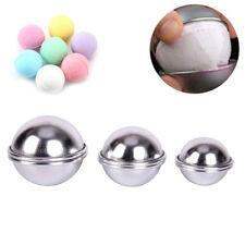 6pcs/3 set Bath Bombs Aluminum Alloy Bath Bomb Mold Ball Shape Diy Bathing ToolR