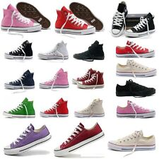 AU Men Women Classic Convas Shoes Comfort Low Top High Top Chuck Taylor Trainers