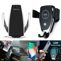 10W Qi Wireless Charger Car Phone GPS Holder CD Slot Mount for iPhone Samsung