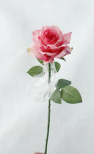 Real Touch Artificial Rose Peony Silk Flowers White Bridal Wedding Bouquet Decor