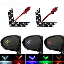 2x Car Auto Side Rear View Mirror 14-SMD LED Lamp Turn Signal Lights 5 Colors