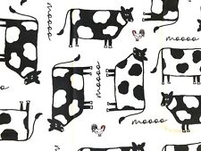 Cows Black White On White Potholders (2) Handmade By Me! Cute