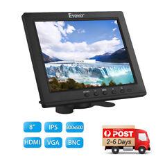 "8"" inch Small AUDIO LCD Color Monitor HDMI VGA BNC AV For PC CCTV DVR Camera AU"