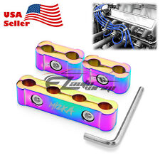 3Pcs Neo Chrome Engine Spark Plug Wire Separator Divider Organizer Clamp Kit