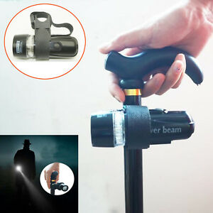 Walking Stick Cane Strap Handle Black LED Light Adjustable fixed- no Cane