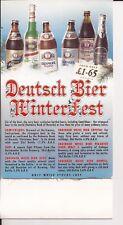 'Deutsch Bier Winterfest' bar display - 1990's - free pp(UK)