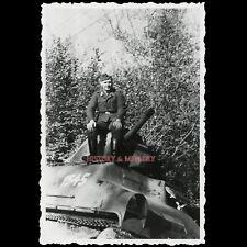 PHOTO WW2 1940 CHAR FRANÇAIS BLINDÉ FRANZ. PANZER FRENCH TANK SOMUA DÉTRUIT
