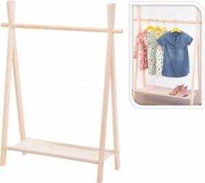Kinder Garderobe Kleiderstange Kleiderständer Garderobenständer 100x80x30cm N070