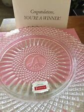1978 Avon Fostoria Lead Crystal Plate 92nd Anniversary Prize Program