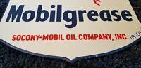 VINTAGE MOBIL MOBILGREASE PEGASUS PORCELAIN GASOLINE OIL SERVICE STATION SIGN