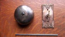 Antique Victorian Mechanical Doorbell & Fancy Cast Brass Twist  c1885