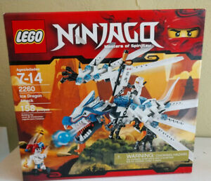 RETIRED--LEGO Ninjago Ice Dragon Attack (2260) New in Box--Masters of Spinjitzu