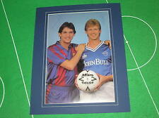 Gary Lineker & Tommy Williams Firmado Leicester City 1986 testimoniales programa