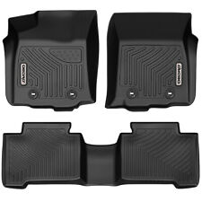 Oedro Floor Mats Liners Unique Tpe fit for Toyota Tacoma Double Cab 2018-2020