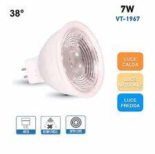 V-TAC LAMPADINE LED GU5.3 MR16 da 7W Lampada SMD 12V Spot Porta Faretto Incasso