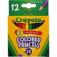 2 Pack Crayola Colored Pencils, Short, 12 Ct