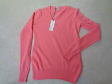 "NEW STILE BENETTON CASHMERE BLEND V NECK ""SALMON"" JUMPER SIZE X SMALL"