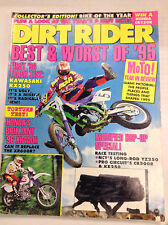 Dirt Rider Magazine Kawasaki KX250 & Honda XR400R October 1995 040617nonr