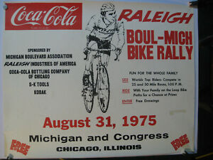 Bicycle Poster - Raleigh Boul Mich 1975