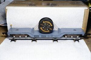 American Flyer S-gauge 636 depressed flat (Erie 7210) with Anaconda cable reel