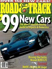 Road & Track October 1998 BMW Coupe, Nissan R390 GT1, Ferrari Dino 206 GT, Lexus