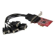 startech.com 4 puertos nativo PCI Express RS232 Serial Adaptador Tarjeta Con