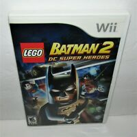 Lego Batman 2: DC Super Heroes (Nintendo Wii, 2012) Complete Tested & Working